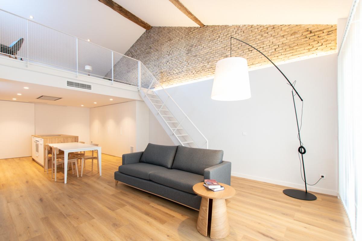 salón de una vivienda, reforma de una vivienda, estudio de arquitectura e interiorismo de Zaragoza