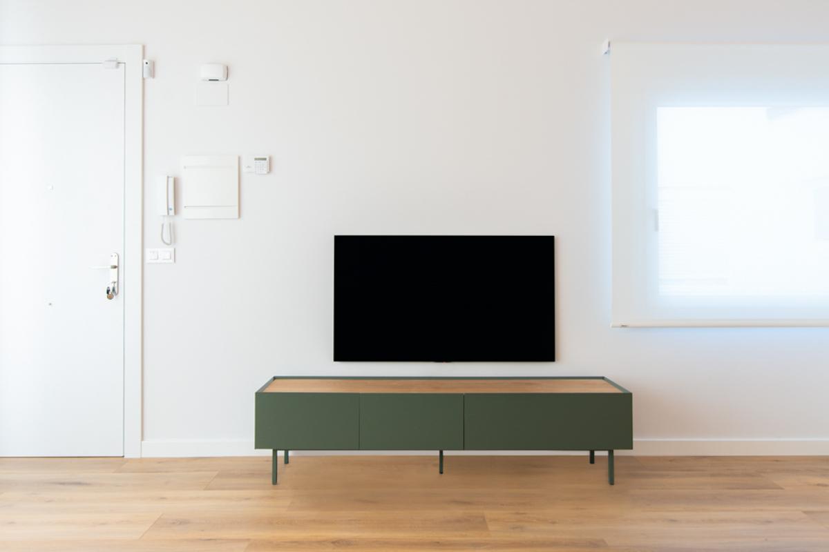 mueble de television, reforma de una vivienda, estudio de arquitectura e interiorismo de Zaragoza