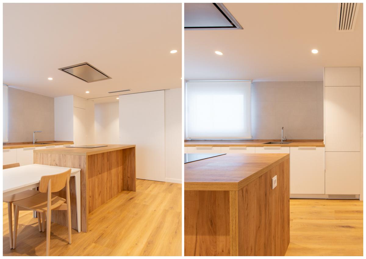 cocina de una vivienda, reforma de una vivienda, estudio de arquitectura e interiorismo de Zaragoza